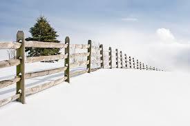 wood snow fence handmade