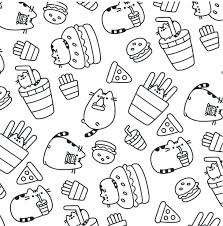 Pusheen Coloring Pages Birthday Sheets With Unicorn Cat To Create
