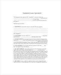 Permalink to Sample Equipment Rental Agreement – 44 Simple Equipment Lease Agreement Templates ᐅ Templatelab : The property could either be a room, an apartment, a whole house, a car, or a heavy equipment.