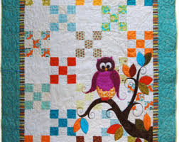 Baby quilt pattern | Etsy & Baby Quilt Pattern PDF // Owl Quilt Pattern PDF // Baby shower Gift / Adamdwight.com