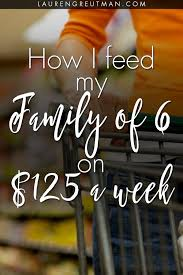 Budgeting For A Family Of 4 How I Feed My Family Of 6 On A Budget Of 125 A Week Lauren Greutman