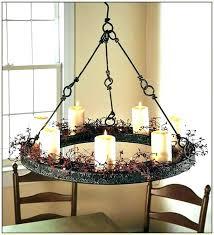 outdoor candle chandelier patio umbrella garden votive