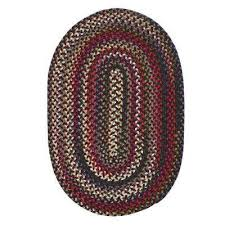 chestnut knoll amber red 7 ft x 9 ft oval braided area rug