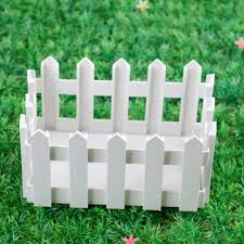 white fence panels. Get Quotations · Plastic Fence Small Flower Planters Basket White Panels