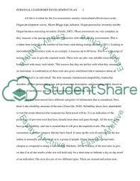 Personal Leadership Development Plan Essay Example Topics