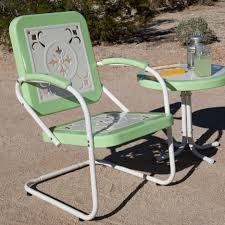 metal patio chairs. Metal Patio Furniture Elegant Retro Chairs With A Table Colored Green And