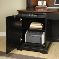 Riverside Bridgeport L-Shaped Computer Desk with Optional Hutch   Hayneedle