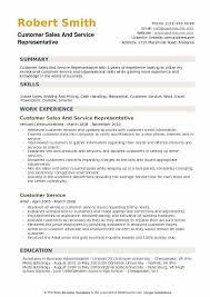 customer service representative resumes customer sales and service representative pdf resume summary