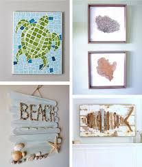 >29 beach crafts coastal diy wall art