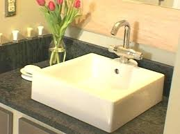 installing granite countertops bathroom vanity how to install secure top bath a and vessel sink network
