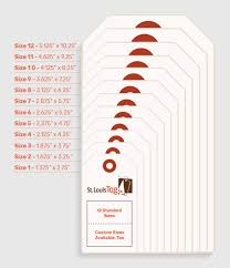 Hang Tag Template Inspiration Standard Sizes For Custom Printed Hang Tags St Louis Tag