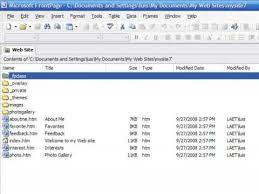 Creating A Website Using Frontpage How To Create A Web Page With Frontpage