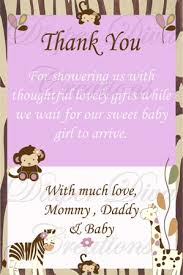 Thank You Cards Baby Shower Cocalo Jacana Baby Shower Thank You Card