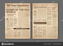 Old Fashioned Newspaper Article Template Vintage Newspaper News Articles Newsprint Magazine Old