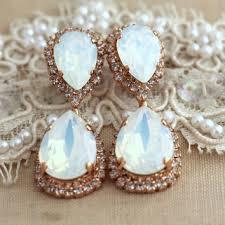 opal chandelier earrings bridal opal earnings bridal earrings r