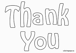Thank You Cards Coloring Pages Bestofcoloring For Thank You Card