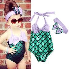 Image Is Loading Toddler Kids Baby Girl Mermaid Bikini Swimwear Bathing