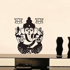 indian lord ganesha wall stickers for home vinyl wall art home decoration accessories elephant wall decals customized wall decals damask wall decals from  on damask sticker wall art with indian lord ganesha wall stickers for home vinyl wall art home