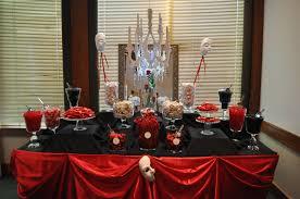 red an black candy buffet