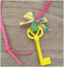 ... but there was also the odd painted key as a fashion accessory. Aha!  What a fun idea. And I had just the keys. They were about to get a little  makeover!