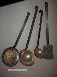 4 Teile Küchenhelfer Suppenkellen Schaumlöffel Kupfer Bauernküche