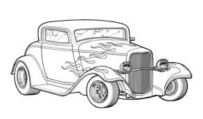Small Picture Classic Hot Rod Car Coloring Page Printable Transportation