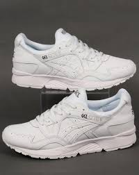 asics asics gel lyte v leather trainers white