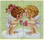 Скачать схему для вышивки крестом ангелочек бесплатно