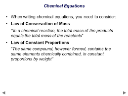 4 chemical equations when writing