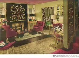 furniture 1940s. the use of warm and rich colors in this space u2014 combined with symmetrical arrangement furniture make for a calm cozy inviting living area 1940s 0