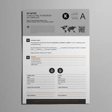 Ms Word Consulting Agreement A4 Template For Microsoft Word Free Fonts