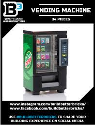 Soda Vending Machine Size Awesome Custom LEGO Making Dew Soda Vending Machine Lego Arcade