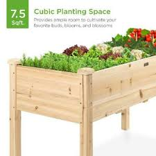 raised garden bed elevated wood garden