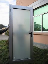 aluminum exterior doors aluminum doors and frames aluminum door with white opaque frosted glass before installing
