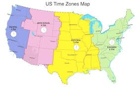 Us Map Time Zones With Cities Time Zone Map Usa With Cities With ...
