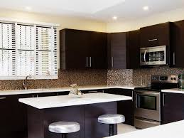 Backsplash For Dark Cabinets Contemporary Kitchen Backsplash Ideas With Dark Cabinets White
