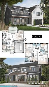 Modern farmhouse 5 bedrooms with garage - Corinne Mann - #bedrooms #Corinne  #Farmhouse #Garage #Mann #Modern | House styles, Dream house plans, Sims  house plans