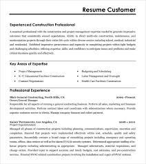 construction resume –   free samples   examples   formatconstruction resume example