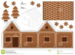 Gingerbread House Paper Model Stock Vector Illustration Of