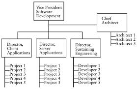 Software Development Org Chart Sample Organizational Structures Software Development