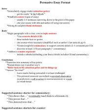 how should a persuasive essay be set up writing the persuasive essay