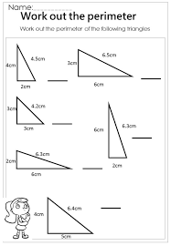 measure the perimeter triangle worksheet   Mathematics   Pinterest ...