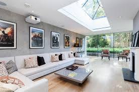 modern skylight living room