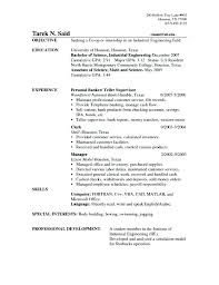 Bank Teller Resume Template Simple Bank Teller Resume Example Sample Of Bank Teller Resume Resume
