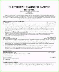 Electrical Engineering Sample Resumes 48 Surprising Engineering Student Resume Template You Should