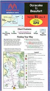 Amazon Com Maptech Waterproof Chart Ocracoke To Beaufort