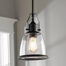 classic bell shade pendant rustic