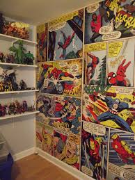 Marvel Bedroom Accessories Marvel Comics Wall Mural It Looks Amazing In The Figure Room