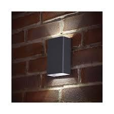 el 40073 led outdoor matt grey up down double wall light