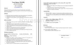 sample icu rn resume